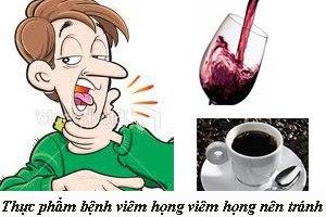 Bệnh viêm họng nên tránh