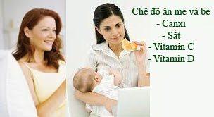 Chế độ ăn mẹ cho con bú