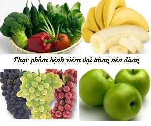Thực phẩm viêm đại tràng nên dùng