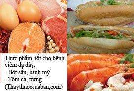 Thực phẩm tốt cho bệnh dạ dày