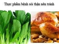 Thực phẩm bệnh sỏi thận nên tránh